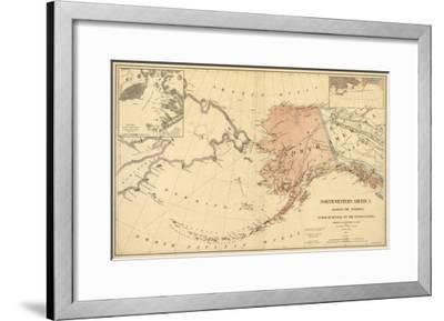 Alaska - Panoramic State Map-Lantern Press-Framed Art Print