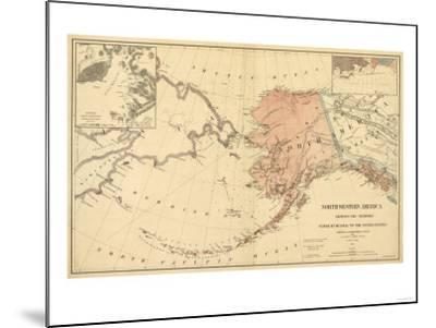Alaska - Panoramic State Map-Lantern Press-Mounted Art Print