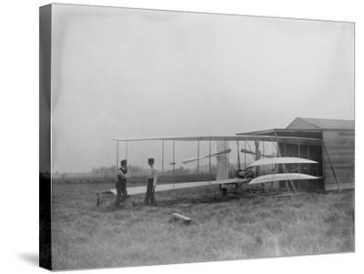 Wilbur & Orville Wright in 2nd powered machine Photograph - Dayton, OH-Lantern Press-Stretched Canvas Print