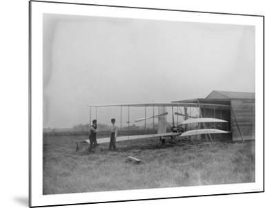 Wilbur & Orville Wright in 2nd powered machine Photograph - Dayton, OH-Lantern Press-Mounted Art Print