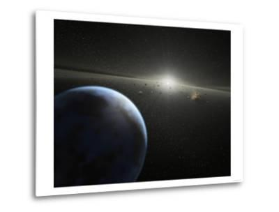 Artist's Concept of an Astroid Belt Photograph - Outer Space-Lantern Press-Metal Print