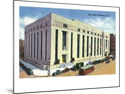 Albany, New York - Exterior View of the Post Office No. 2-Lantern Press-Mounted Art Print