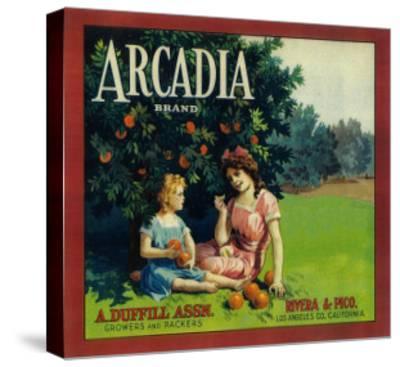 Arcadia Orange Label - Pico Rivera, CA-Lantern Press-Stretched Canvas Print