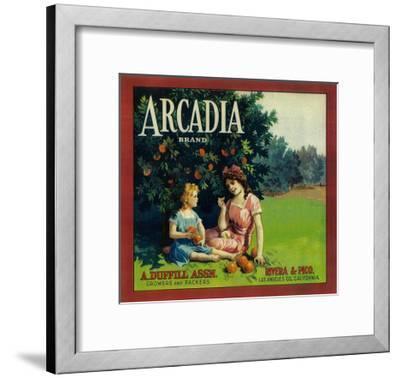 Arcadia Orange Label - Pico Rivera, CA-Lantern Press-Framed Art Print