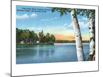 Adirondack Mts, New York - View of Fish Creek State Camping Grounds-Lantern Press-Mounted Art Print