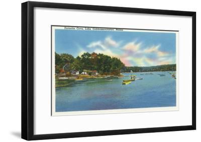 Augusta, Maine - View of Lake Cobbosseecontee in Pernette Cove-Lantern Press-Framed Art Print
