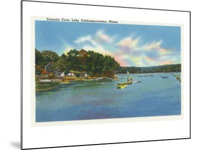 Augusta, Maine - View of Lake Cobbosseecontee in Pernette Cove-Lantern Press-Mounted Art Print