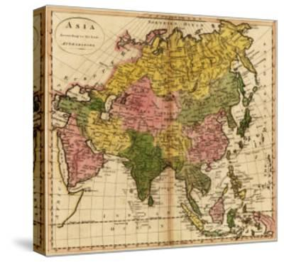 Asia - Panoramic Map-Lantern Press-Stretched Canvas Print