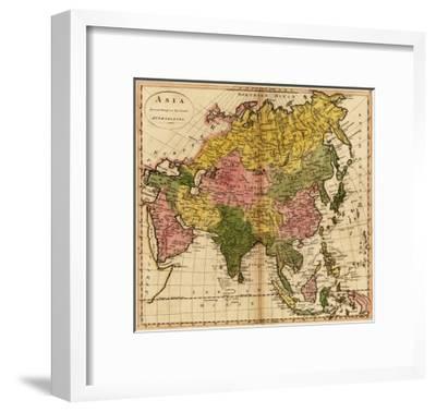 Asia - Panoramic Map-Lantern Press-Framed Art Print