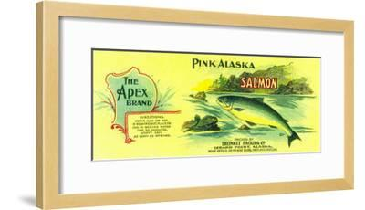 Apex Salmon Can Label - Gerard Point, AK-Lantern Press-Framed Art Print