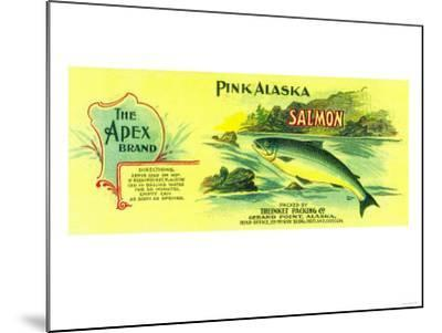Apex Salmon Can Label - Gerard Point, AK-Lantern Press-Mounted Art Print