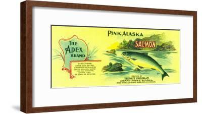 Apex Salmon Can Label - Gerard Point, AK-Lantern Press-Framed Art Print