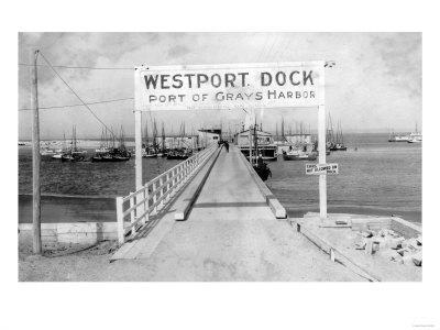 Westport Dock in Grays Harbor, WA Photograph - Grays Harbor, WA-Lantern Press-Framed Art Print