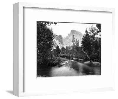 Yosemite National Park, Valley Floor and Half Dome Photograph - Yosemite, CA-Lantern Press-Framed Art Print