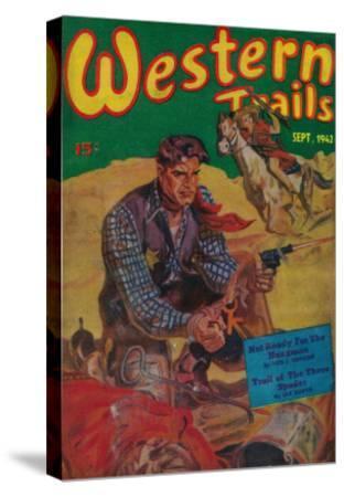 Western Trails Magazine Cover-Lantern Press-Stretched Canvas Print