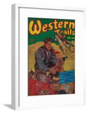 Western Trails Magazine Cover-Lantern Press-Framed Art Print