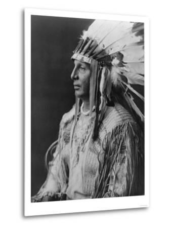 White Shield Arikara Native American Indian Curtis Photograph-Lantern Press-Metal Print