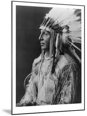 White Shield Arikara Native American Indian Curtis Photograph-Lantern Press-Mounted Art Print