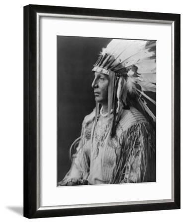 White Shield Arikara Native American Indian Curtis Photograph-Lantern Press-Framed Art Print