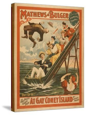 """""""At Gay Coney Island"""" Musical Comedy Poster No.2-Lantern Press-Stretched Canvas Print"""