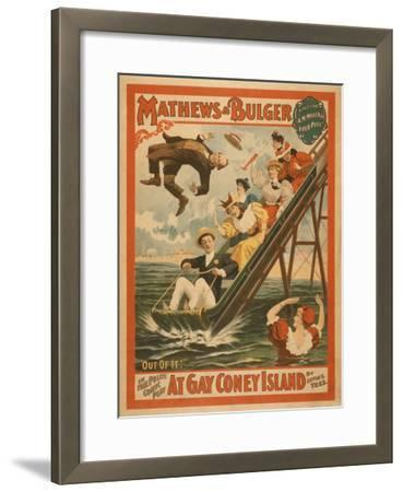 """At Gay Coney Island"" Musical Comedy Poster No.2-Lantern Press-Framed Art Print"