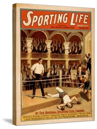 """Sporting Life"" Boxing Theatrical Play Poster-Lantern Press-Stretched Canvas Print"