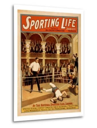 """Sporting Life"" Boxing Theatrical Play Poster-Lantern Press-Metal Print"