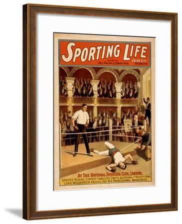 """Sporting Life"" Boxing Theatrical Play Poster-Lantern Press-Framed Art Print"
