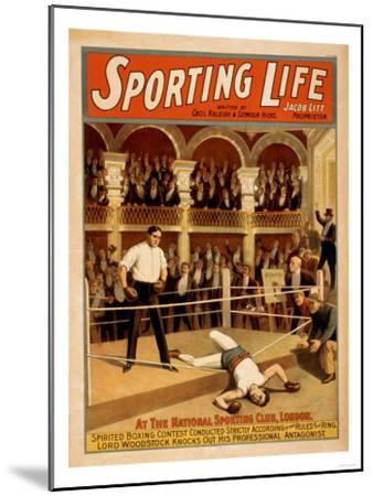 """Sporting Life"" Boxing Theatrical Play Poster-Lantern Press-Mounted Art Print"