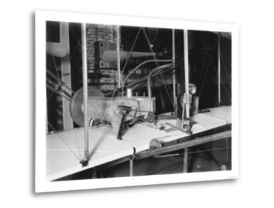 1903 Plane Motor from Wright Brothers' Shop Photograph-Lantern Press-Metal Print