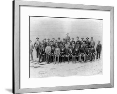 African American Carpenter's Union Photograph - Jacksonville, FL-Lantern Press-Framed Art Print