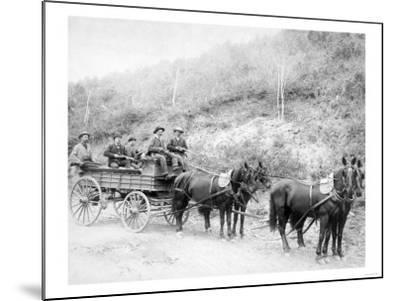 Wells Fargo Express Company Wagon and Guards Carrying Gold from Mine Photograph - Deadwood, SD-Lantern Press-Mounted Art Print