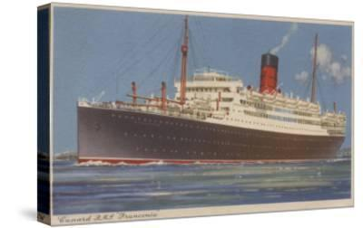 View of the Cunard R.M.L. Franconia Cruise Ship-Lantern Press-Stretched Canvas Print