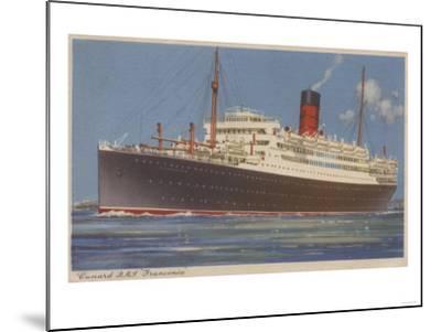 View of the Cunard R.M.L. Franconia Cruise Ship-Lantern Press-Mounted Art Print