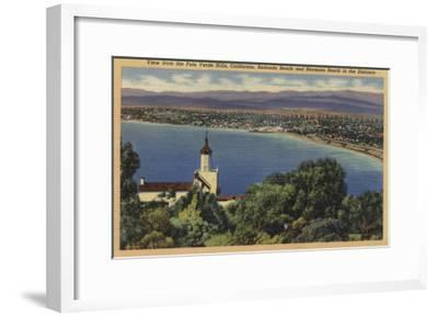 View of Redondo & Hermosa Beaches, California - Palo Verde Hills, CA-Lantern Press-Framed Art Print