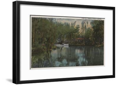 Water View of Tomoka River & Marsh, Florida - Florida-Lantern Press-Framed Art Print