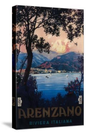 Arenzano, Italy - Italian Riviera Travel Poster - Arenzano, Italy-Lantern Press-Stretched Canvas Print