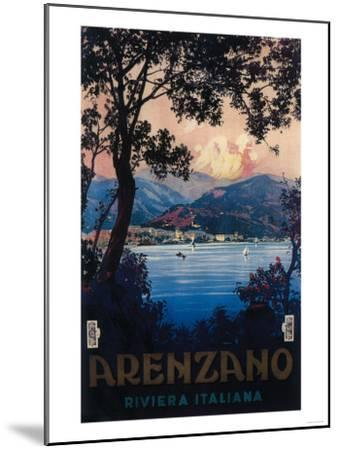 Arenzano, Italy - Italian Riviera Travel Poster - Arenzano, Italy-Lantern Press-Mounted Art Print