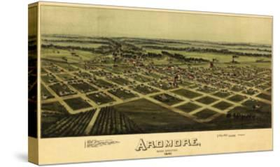 Ardmore, Oklahoma - Panoramic Map - Ardmore, OK-Lantern Press-Stretched Canvas Print