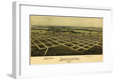 Ardmore, Oklahoma - Panoramic Map - Ardmore, OK-Lantern Press-Framed Art Print
