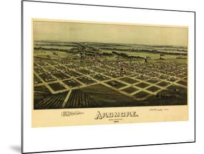 Ardmore, Oklahoma - Panoramic Map - Ardmore, OK-Lantern Press-Mounted Art Print