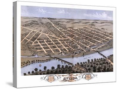 Attica, Indiana - Panoramic Map-Lantern Press-Stretched Canvas Print