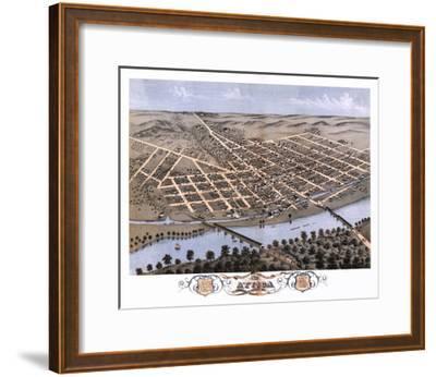 Attica, Indiana - Panoramic Map-Lantern Press-Framed Art Print