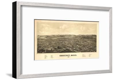 Amherst, Massachusetts - Panoramic Map-Lantern Press-Framed Art Print