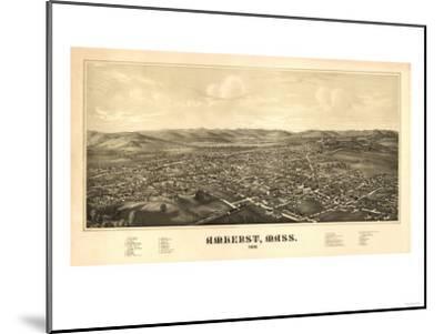 Amherst, Massachusetts - Panoramic Map-Lantern Press-Mounted Art Print