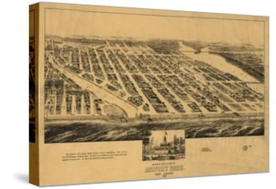 Asbury Park, New Jersey - Panoramic Map-Lantern Press-Stretched Canvas Print