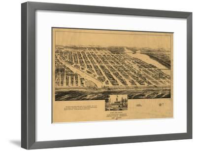 Asbury Park, New Jersey - Panoramic Map-Lantern Press-Framed Art Print