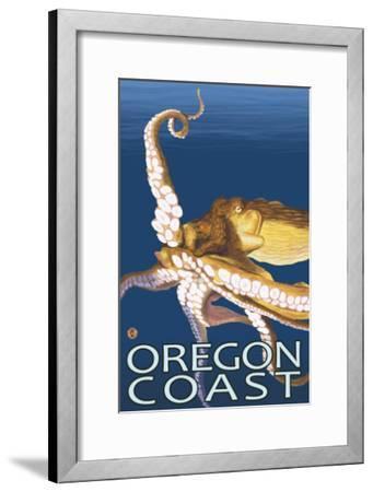 Oregon Coast Octopus-Lantern Press-Framed Art Print