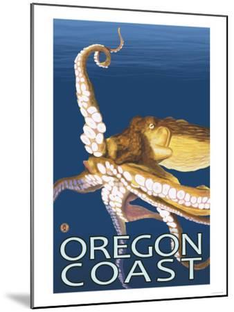 Oregon Coast Octopus-Lantern Press-Mounted Art Print