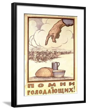 Remember the Hungry!, Poster, 1921-Ivan Simakov-Framed Giclee Print